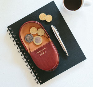 Mens Leather Coin Wallet / Tray Wallet. 'The Savino'