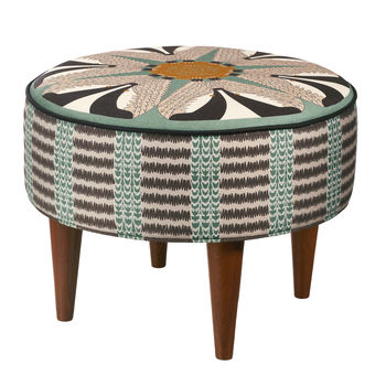 Badger Pattern Round Footstool