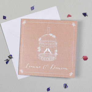 'Vintage Birdcage' Wedding Invitation