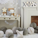 Merry Christmas Gold Glitter Wooden Bunting