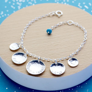 Personalised Her Story Charm Bracelet With Birthstone