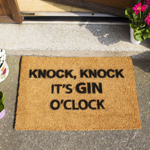 Gin O Clock Doormat - our favourite gin gifts