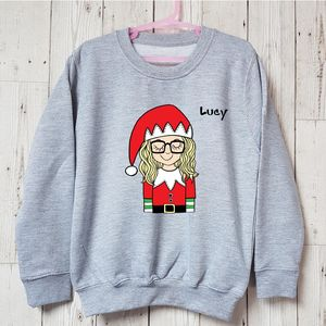 Personalised Selfie Elfie Kids Christmas Jumper