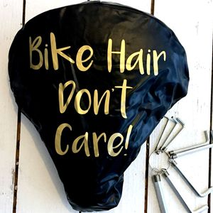 'Bike Gift' Women's Gold Print Bike Seat Rain Cover