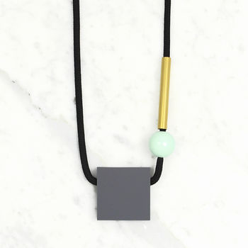 Block / Grey, Mint + Brass