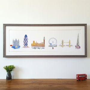 London Skyline Limited Edition Giclee Print - architecture & buildings