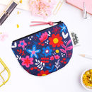 Coin Purse In Floral Pattern