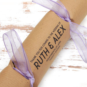 Wedding Favour Crackers Box Of Six Classic Charm