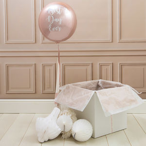 Personalised Best Day Ever Tassel Orb Balloon - room decorations