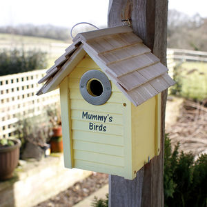 Personalised Wooden Bird Box - £25 - £50