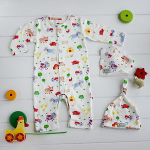 Barrel Sykes Farmyard Baby Shower Gift Set - outfits & sets