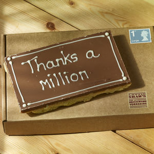 Thank You Millionaire Shortbread Card