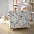 Personalised Dots Storage Crate On Wheels