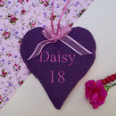 Name And Age Linen Heart