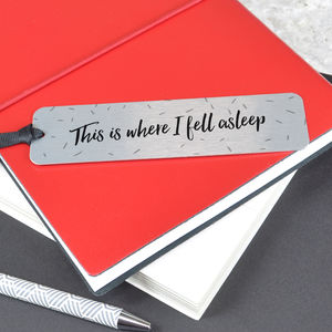 'This Is Where I Fell Asleep' Bookmark - bookmarks