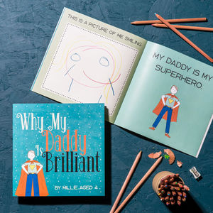 Limited Edition Personalised 'Why My Daddy Is Brilliant' Gift Book - summer sale