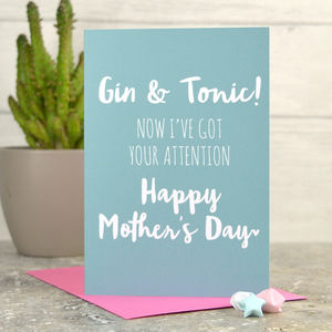 Mother's Day Gin And Tonic Card - mother's day cards