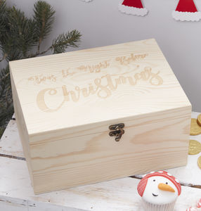 Childrens Wooden Christmas Eve Box