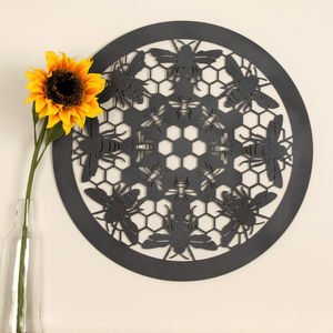 Bumble Bee Laser Cut Wooden Wall Art - more