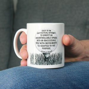 'Golf Is Ineffectual' Mug For Golfers