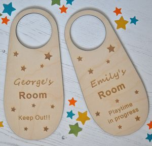 Personalised Wooden Door Hanger - baby & child sale