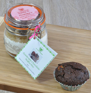 Baking Lovers Gift Chocolate Muffins Kit - cupcake cases