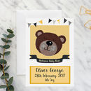 New Baby Bear A5 Card