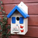 Personalised Bird House With Butterflies