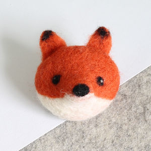 Fox Brooch Needle Felting Craft Kit
