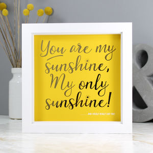 'You Are My Sunshine' Personalised Gold Foil Print