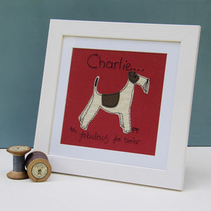 Fox Terrier Personalised Picture - mixed media & collage
