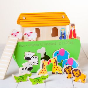Personalised Wooden Noahs Ark Toy - toys & games