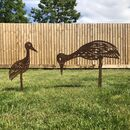 Pair Of Metal Wading Birds For The Garden