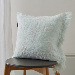 Fringe Cushion - soft colour pop