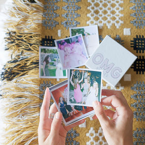 Personalised 'Omg' Photos In A Box - gifts for her