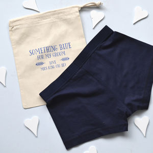 Personalised Something Blue Groom's Underwear