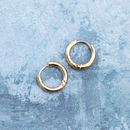 Tiny Thick Hinged Gold Huggie Hoop Earrings