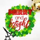 'Merry And Bright' Modern Cross Stitch Kit