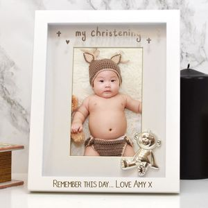 Personalised Christening Gift Frame - picture frames