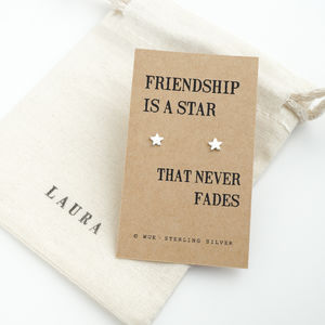 Friendship Star Silver Stud Earrings - summer sale