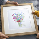 Personalised Birth Flower Bouquet Family Print