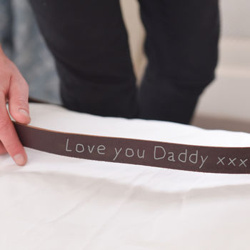 Personalised Child's Message To Daddy Belt