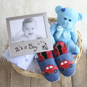 Beautiful Boy New Baby Gift Basket