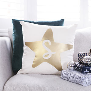 Personalised Initial Star Cushion