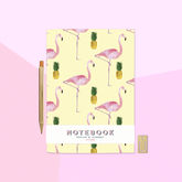 Flamingo And Pineapple A5 Notebook - trends