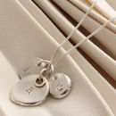 Personalised Silver And Gold Family Necklace