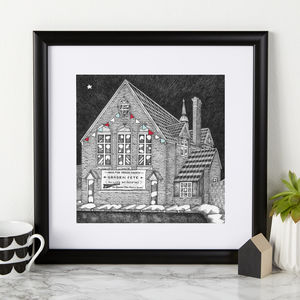Where John Met Paul Illustration Print - music