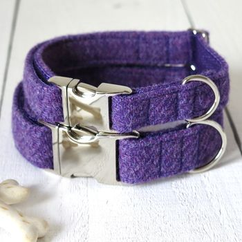 Heather Harris Tweed Dog Collar