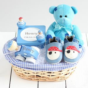 Pirate Ahoy Baby Gift Basket - new baby gifts