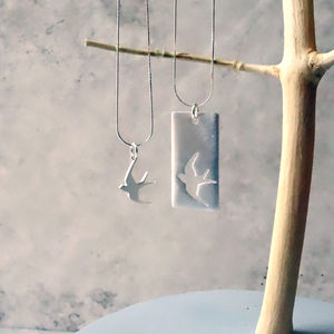 Mother And Daughter Swallow Necklace Set - necklaces & pendants